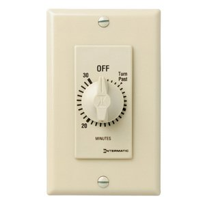 Intermatic FD30MC Spring Wound Timer, 30-Minute, SPST, Ivory