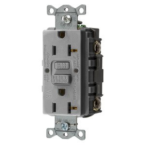 Hubbell-Wiring Kellems GFWRST20GY 20A COM SELF TEST WR