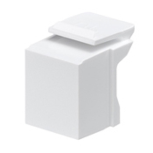 Leviton 41084-BW Snap-In Blank, Quickport Module, White, Bag of 10