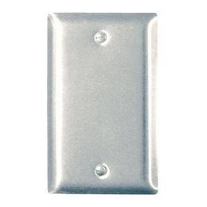 ON-Q SS13 Blank Wallplate, 1-Gang, Stainless Steel, Standard, Box Mount