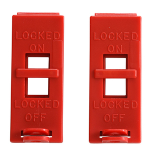 Brady 103540 Red Wall Swtich Lockout, Double Pole - 2 per Pack