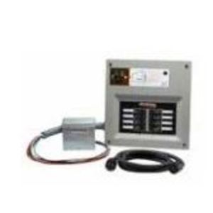 Generac 6854 Manual Transfer Switch, 30A, 10 Space, Outdoor Inlet, Breaker Incl.