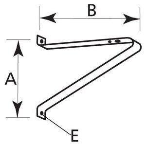 Hubbell - Lighting 4040 Steel Wall Pole Bracket, Bronze