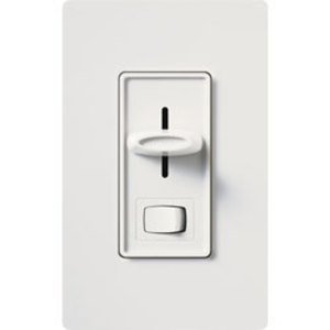 Lutron SLV-603P-WH Slide Dimmer, 450W, 3-Way, White