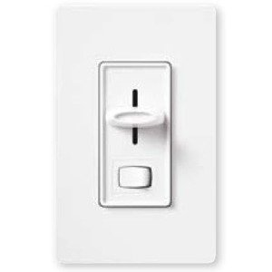 Lutron S-600P-WH Slide Dimmer, 600W, Single-Pole, Skylark, White