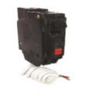 GE Industrial THQB1120GFT Breaker, 20A, 1P, 120/240VAC, 10kAIC, Bolt-On, GFCI, Self Test