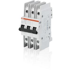 ABB SU203M-K10 Breaker, Miniature, DIN Rail Mount, 10A, 3P, 240VAC, K Curve