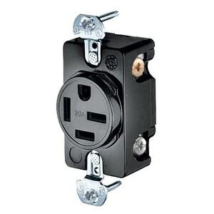 Hubbell-Kellems HBL8420 Flush Receptacle, 20A, 250V, 3P4W, NEMA 15-20R