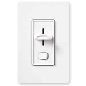 Lutron S-10P-WH Slide Dimmer, 1000W, Single-Pole, Skylark, White