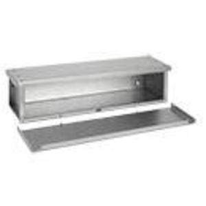 "Hoffman F8836RTGV Wiring Trough, Type 3R, Screw Cover, 8"" x 8"" x 36"", Galvanized, No KOs"