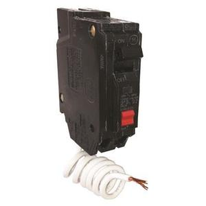 GE THQL1120GFT Breaker, Plug On, 20A, 1P, 120/240V, 10 kAIC, GFCI, Self Test