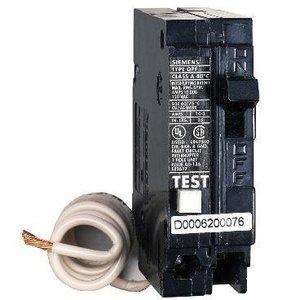 GE Industrial THQL1120GFT Breaker, 20A, 1P, 120V, 10 kAIC, Q-Line Ground Fault CB