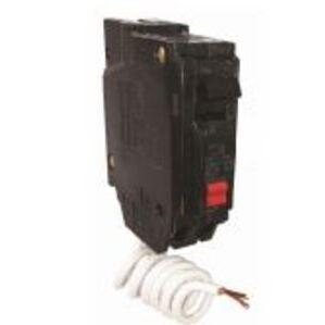 GE THQL1115GFT Breaker, 15A, 1P, 120VAC, 10kAIC, GFCI Self Test, Plug-On