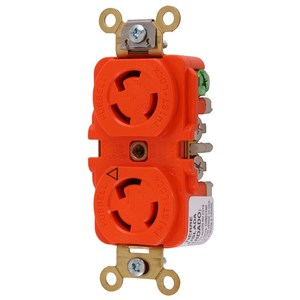 Hubbell-Kellems IG4700A Twist-Lock Isolated Ground Receptacle, 15A, Orange