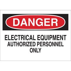 Brady 40658 BRA 40658 ELECTRICAL HAZARD SIGN