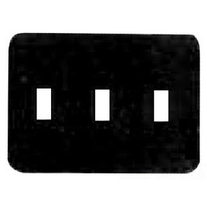 Mulberry Metal 76073 Toggle Wallplate, 3-Gang, Steel, White, Princess