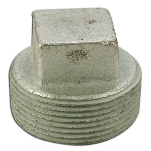 "Appleton PLG-150S Close-Up Plug, Square Head, 1-1/2"", Explosionproof, Malleable"