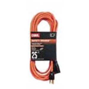 General Cable 06826.63.04 Indoor/Outdoor Extension Cord, Orange, 12/3 SJTW, 25' Long