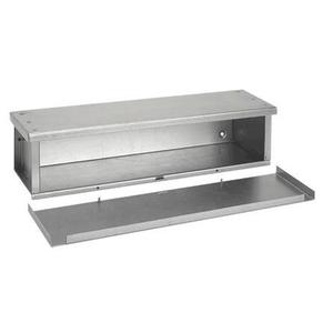 "Hoffman F121272RTGV Wiring Trough, Type 3R, Screw Cover, 12"" x 12"" x 72"", Galvanized, No KOs"