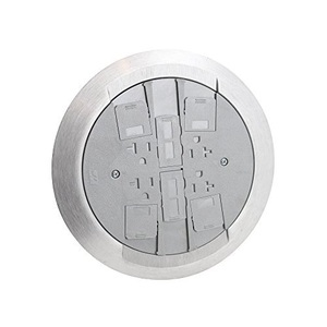 "Wiremold RC4ATCGY Poke-Thru Assembly, 8-1/4"" Diameter, Non-Metallic"