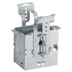 "Hubbell-Wiring Kellems RF500 Flush Floor Box, Adjustable, Depth: 3"", (3) 1/2"" Knockouts, Steel"