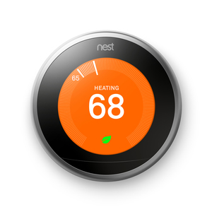 Nest T3008US Nest Auto-Learning Thermostat, Silver