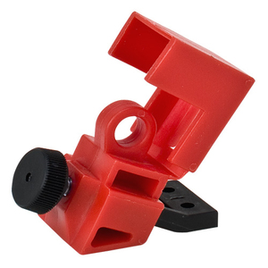 Brady 65396 Breaker, Lock-Out, Clamp On, 1P, Red, 120/277VAC, Thumbscrew