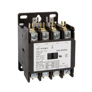 allen-bradley 400-dp30nd4 contactor, definite purpose, 30a, 4p, 120vac coil,  600vac rated