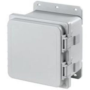 "Hoffman A181610PHC Enclosure, NEMA 4X, Hinged Cover, 18"" x 16"" x 10"""
