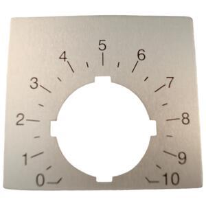 ABB SK-615-562-88 Potentiometer, 22mm, Legend Plate, 0-10, Modular