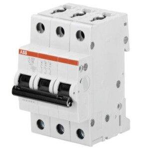 ABB S203-C6 Circuit Breaker, Miniature, DIN Rail Mount, 6A, 3P, 480Y/277VAC