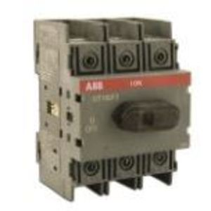 Thomas & Betts OT100F3/B25 Disconnect Switch, Non-Fused , 100A, 3P, Base/DIN Rail Mount
