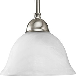 Progress Lighting P5068-09 Mini-Pendant, 1-Light, 100W, Brushed Nickel