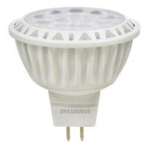 SYLVANIA LED9MR16/DIM/830/NFL25 LED Lamp, MR16, 9W, 12V, 3000K, 700 Lumen