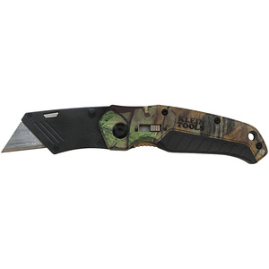 Klein 44135 Camouflage Assisted Open Folding Utility Knife, 4-1/2""
