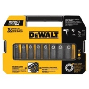 "DEWALT DW22812 1/2"" 10pc Impact Ready Socket Set"