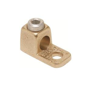 Burndy KA4C Mechanical Lug, Copper, 1-Barrel, 1-Hole Mount, 14 - 4 AWG