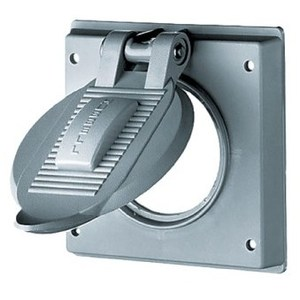 Hubbell-Kellems HBL7777A Weatherproof Cover for Receptacle, 2-Gang