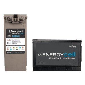 Outback Power 200NC EnergyCell Front Terminal, 12 VDC, 6 Cells Per Unit
