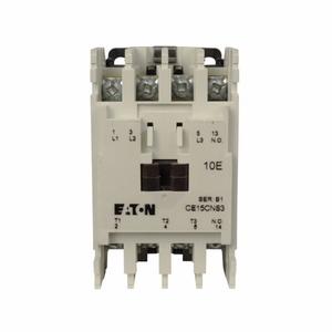 "Eaton CE15CNS3AB Contactor, IEC, Full Voltage, Non-Reversing, 12A, 3P, 120/110VAC"""