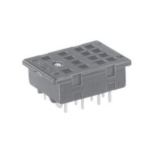 Tyco Electronics 27E006 Socket, 14 Blade, Solder Terminal, KHA Relays, Printed Circuit Mount
