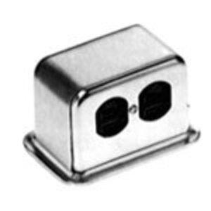 Steel City SFH-50-2RG Above Floor Service Fitting, Aluminum, 15-Amp 125 Volt, 3 Wire NEMA Duplex Receptacle