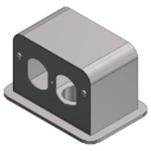 Steel City SFH-50 Above Floor Service Fitting, Aluminum, Without Duplex Receptacle