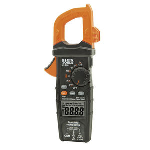 Klein CL800 Digital Clamp Meter, AC/DC Auto-Ranging, 600A