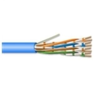 Hitachi Cable America 30238-8-BL2 4 Pair 23 AWG CMR CAT6 - Blue - No Spline