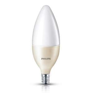 Philips Lighting 4.5B13/END/2700-E12-8/1 LED Lamp, Dimmable, B13, 4.5W, 120V, Candelabra Base