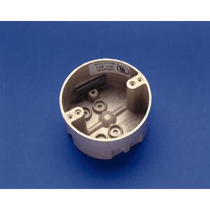 "Allied Moulded 9350-KFR Ceiling/Fixture Box, Diameter: 4"", Depth: 2-7/16"", Non-Metallic"
