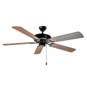 "Maxim Lighting 89905OIWP 52"" Ceiling Fan, Oil Rubbed Bronze Finish, Walnut/Pecan Blades"