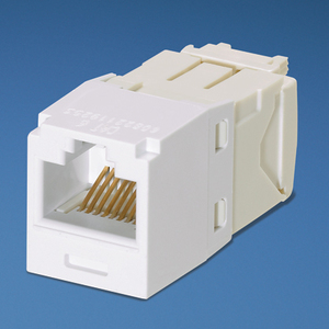Panduit CJ688TGWH Snap In Connector, Mini-Com, TX6 PLUS UTP, Cat 6, White