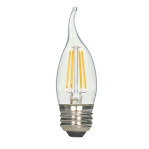 Satco S9573 SATCO S9573 - 4.5 watt CA11 LED; Clear; Medium base; 2700K; 450 lumens; 120 volts